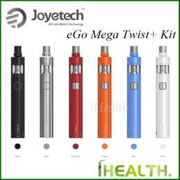 Wholesale Original Joyetech Twist - Joyetech eGo Mega Twist Plus Kit 2300mah eGo Mega Twist Plus Battery with 4ml Cubis Atomizer 100% Original Joyetech eGo Twist plus Kit