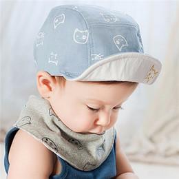 Wholesale Toddler Crochet Hat Patterns - Summer Sweet Toddler Baby Cat Pattern Cap Hat Bonnet Cotton Outdoor Sun Hat Girl Wholesale Free Shipping