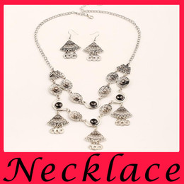 Wholesale Gem Exaggerated Earrings - Bohemia retro gem necklace Tassel Earrings national coins set free shipping accessories mix exaggerated geometry