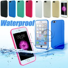 water proof covers for iphone Promo Codes - Waterproof TPU water Case For Iphone X 8 Samsung Galaxy S9 Plus Rubber Case Full Boday Cover Shock-proof Dust-proof Underwater Diving Cases