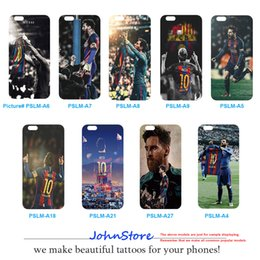 Wholesale Wholesalers Football Phone Cases - Famous Football Palyer Lionel Messi Series - Celebrating Goals TPU Phone Case M10 DIY Phone Cover For iPhone 6 6S 6sPlus 7 7Plus 8 8Plus X