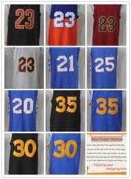 Wholesale Ball Stops - New season brand NlKE jerseys Men Basketball #2 BALL #30 CURRY #35 DURANT #20 Markelle Fultz PHILA SIXERS EMBIID #21 SIMMONS #25 JERSEYS