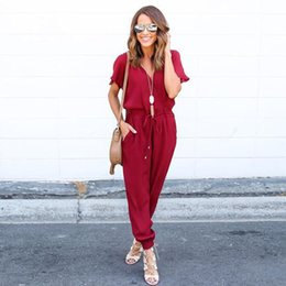 Wholesale Night Clubwear - Wholesale- 2017 Fashion Sexy Women Slim Bodysuit Chiffon Short Sleeve Clubwear Playsuit Bodycon Night Club Party Jumpsuit Romper woman
