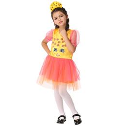 Juego de rol para niños Cosplay para niños Ropa de rendimiento de tela de dibujos animados auténticos Amarillo naranja vestidos envío gratis EK209 desde fabricantes
