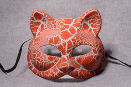 Wholesale Show Mask Animal - Masquerade Mask animal show half face Horror Halloween props small fox fox mask Liaozhai