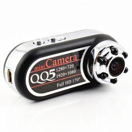 Webcam de visión nocturna hd online-QQ5 Mini cámara Full HD 1080P cámara portátil infrarroja visión nocturna DV cámara videocámara 12MP cámara Webcam 170 gran angular detector de movimiento USB