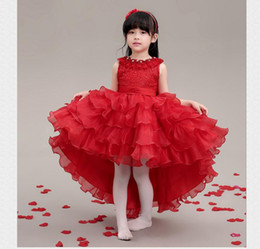 Wholesale White Christmas Attire - The most fashionable children's wear formal attire of the little girl lovely luxuriant Pageant Dresses first holy communion dress