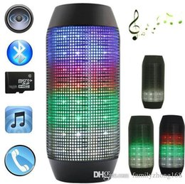 Wholesale N Pulse - new pulse speaker pill Bluetooth speaker Bluetooth audio wireless big soundbox support TF card portable speakers with LED light N-YX