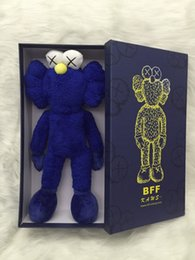 "Wholesale Retail Plush Doll - 16"" 40cm 2016 Kaws Thailand Bangkok Exhibition Sesame Street Kaws BFF Plush Doll Toy Collections with retail box"
