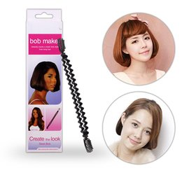 Wholesale Bob Hair Clip - Magic Hair BOB Styling Tools Flexible Roller Twist Clip Stick Long to Short Hair Style DIY BOB Maker Hair Tools Hairdisk Insert Hair Pads