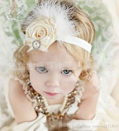 Wholesale Cheaper Feather Headbands - Crystal diamond fashion baby hair band 2016 new feathers leaves cheap children hair band candy colors bows hair bands wholes 30pcs