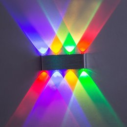 Wholesale Scattered Light - 6W 8W Aluminum LED Wall Lamp Up Down Wall Light with Scattering Light Design Fixtures Lamps Decorative Bar Bedroom