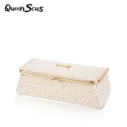 Wholesale Lipstick Boxes Mirror - Women Pretty Makeup Bag With Mirror Portable Lipstick Cosmetic Box Simple Makeup Organizer Large Toolbox Brush Storage Case