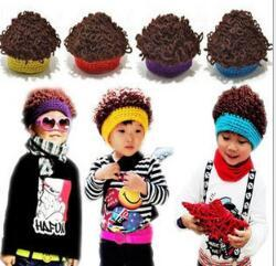 Wholesale Nice Cap Girl - Fashion Baby Boy Winter Beanie Knit Hats Children Crochet Caps Nice Manual Unisex Explosive Wig Cap Baby Warmth Hat Wholesale Decorations