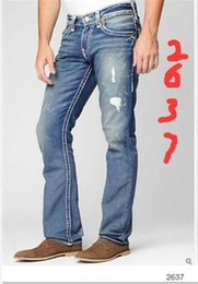Wholesale printed jeans - Free Shipping True High quality new Men's Robin Rock Revival Jeans Crystal Studs Denim Pants Designer Trousers Men's size 30-40