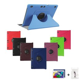 Wholesale Lenovo Waterproof - Wholesale-Cover for Lenovo Tab2 A10-70F A10-70 4G 10.1 Tablet Case(not for A7600)Rotating Stand Leather + Screen Protector Film+Stylus Pen