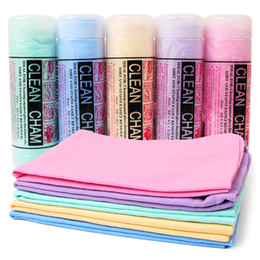 Wholesale Towel Pets - High quality magic Absorbent PVA cleaning pet towel imitation absorbent towel dog cat accessories Five Color Random 43*32*0.2CM 10pcs lot