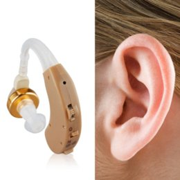 Wholesale Digital Behind Ear - New Healthy Care Tone Axon Digital Hearing Aids Aid Behind The Ear Sound Amplifier Sound Adjustable Kit Free Shipping