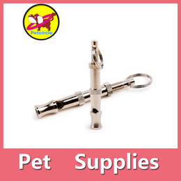 Wholesale Stainless Steel Dog Whistle - Dog Training Whistle Pet Training Dog Adjustable Sound Whistle Best Obedience Training And Bark Stopper Control Device DHL Free 161012