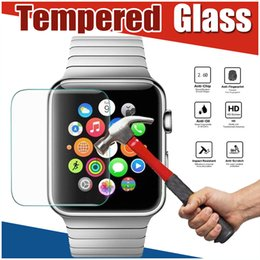 Wholesale Glass Watch Transparent - 0.3MM Premium Tempered Glass 9H Explosion Anti Shatter Real Proof Guard Film Screen Protector for Apple Watch iWatch Series 1 2 3 38mm 42mm