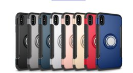 Wholesale Supports For Rings - For iPhone X 8 note8 Armor Case Ring Holder Kickstand Phone Case Support Magnetic Car Mount Durable Rugged Cover for iphone 6 7 plus s7 s8