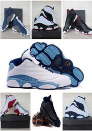 Wholesale Eur Size 47 - Air Retro 13 Low Quai 54 Bred top quality man basketball shoes retro Low Hornets sports shoes size eur 41-47