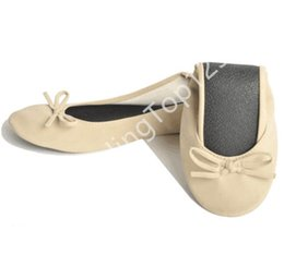 Wholesale Roll Up Shoes - 30 pairs Foldable indoor ballerina roll up shoes women casual ballet flat wholesale china flat shoes ladies ballerina