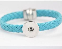 Wholesale Twist Braid Bracelet - DIY NOOSA Bracelets Genuine Leather Braid Bracelets Magnetic Clasp Buckle Interchangeable Snap Buttons Fine Jewelry