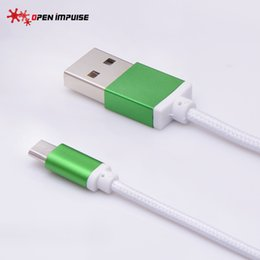 Wholesale Mini Usb Wiring - Micro USB Cable for Samsung galaxy S7 HTC MEIZU SONY Android 1m Fast Charge wire Microusb Mini USB Charger Cable