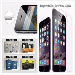 Wholesale Iphone Lcd Screen Protectors - For Galaxy Z3 Z2 S7 Note5 Tempered Glass Screen Protector Iphone 7 LCD 0.26MM I6S Plus I6 Protector Glass Film with 10in1 Paper Package