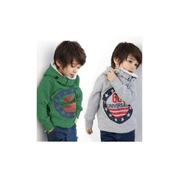 Wholesale Thick Warm Long Sleeve Shirts - Wholesale- Boys Hoodies fashion Christmas lovely thick warm kids clothes hoodies baby boy clothes long sleeve t-shirts for autumn winter