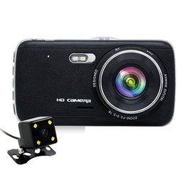 Wholesale Ips Fhd - H6 IPS 4 Inch Car DVR Camera Dual Lens with ADAS LDWS Full FHD 1296P Car Distance warning Dashcam Video Recorder Registrar