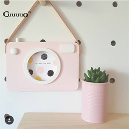 Wholesale Baby Boy Wall Decor - Wholesale- Love Hollow Wooden Photo Frame Set Camera Shape Wall Decoration Accessories For Kids Baby Boys Girls Bedroom Liveroom DIY Decor