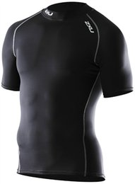 Wholesale Gym Shorts Clothing - Wholesale-Brand 2016 Mens Compression Short-Sleeve T Shirt Summer Homme Gymshark Running Jogging Quick-Drying Gym Clothing