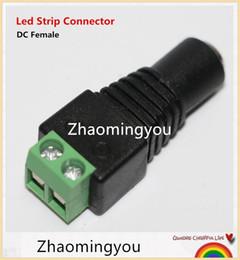 jacks dc Rebajas YON 100PCS Nuevo 2.1 x 5.5mm DC Power Female Plug Jack Adaptador Conector Plug para CCTV LED Strip Light Wholesale
