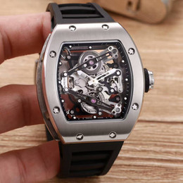 Wholesale Blue Minerals - Top Luxury Brand Men's Watches RM 038 Natural Rubber Straps Mineral Tempered Glass Automatic Machinery Classic Avant-garde