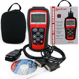 Wholesale Ford Dhl - MS509 MaxiScan code OBD 2 scanner latest version high quality ms509 Code Reader Autel MS 509 Car Diagnostic Tool DHL free shipping