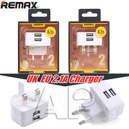 Wholesale Original Dock - Remax Dual USB 2-Port UK  EU Plug Wall Charger Adapter For Smartphone Ipod With Retail Package Not Original