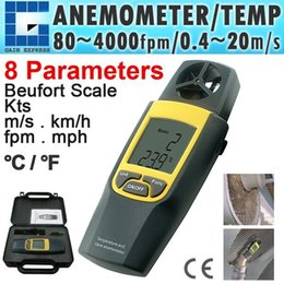velocidades de fluxo Desconto VA-8020 Thermo Digital Anemômetro 4000 fpm Termômetro Velocity Velocidade Temperatura mph m / s + Built-in Rotary Vane + Data Hold função