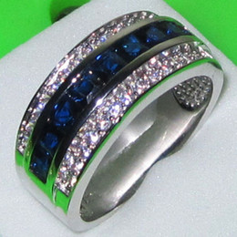 Canada Taille 8/9/10/11/12/13 Deluxe Jewelry Mens Sapphire 10KT Gold Bague de mariage rempli supplier mens size 13 wedding band Offre