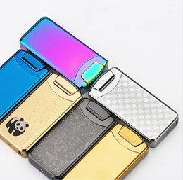 Wholesale High Tech Electronic Cigarette - Free shipping mini portable new design usb lighter electronic high tech arc lighters gift box packing