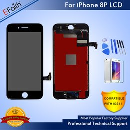 Wholesale Wholesale New Arrivals - New Arrival Top A No Dead Pixel LCD For iPhone 8 plus LCD Display Touch Digitizer For Phone 8 Plus & Free DHL Shipping Good Replacement