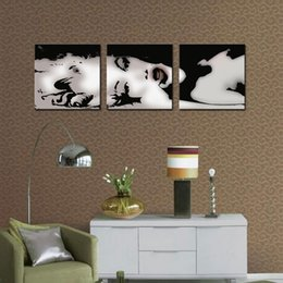 Wholesale marilyn monroe framed art - 3 Panle No Framed Marilyn Monroe Picture Painting on Canvas Print Modern Home Decorations Wall Art Painting for Living Room