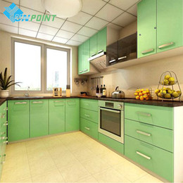Wholesale Kitchen Cabinets Stickers - 60Cmx 3M Glossy Pearl Green Pvc Self Adhesive Wallpaper Modern Diy Home Decor Vinyl Stickers Films For Kitchen Cabinet Waterproof