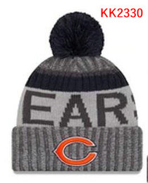 Wholesale Adult Chicago - New Fashion Unisex Chicago Winter Bears Hats for Men women Knitted Beanie Wool Hat Man Knit Bonnet Beanie Gorro Warm Cap