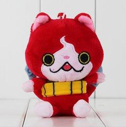 Wholesale Cat Plush Keychain - Youkai Watch Jibanyan Red Cat Stuffed yo-kai Animals Plush Keychain Toy Soft Pendant Doll Gift for Kids EMS