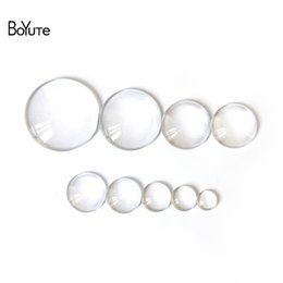 BoYuTe 100Pcs Round Clear Glass Cabochon 6MM 8MM 10MM 12MM 14MM 15MM 16MM 18MM 20MM 25MM 30MM Diy Jewelry Findings Wholesale