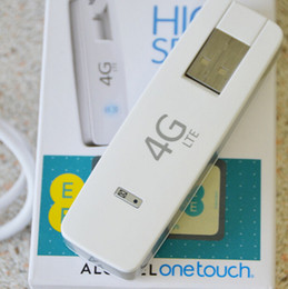Wholesale Unlock Card Dongle - Original Brand Portable Mini Unlock High Speed USB Wireless Modem Alcatel L800 4G LTE FDD SIM Cards WIFI Modem Dongle 100Mbps