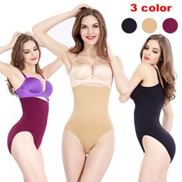 Wholesale Seamless Girdle Shaper - Women body Shaper seamless tummy Belly Control Slim Tummy Corset High Waist panties Girdle Panty Shapewear Underwear with 4 metal holders