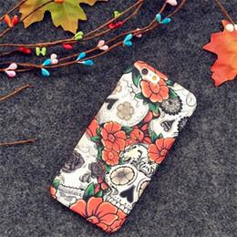 Wholesale Blue Floral Iphone Cases - Voxlink Luxury Luminous Flowers Cases Lovely Cartoon Floral Back Cover case for iPhone7 8 7plus 8 plus
